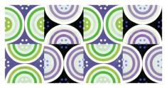 Circles Lavender Green Black White