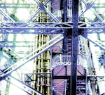 Eiffel Tower Girders Pastel Blue