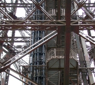 Eiffel Tower Girders Blue/Gray