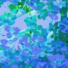 Leaves Square Blue