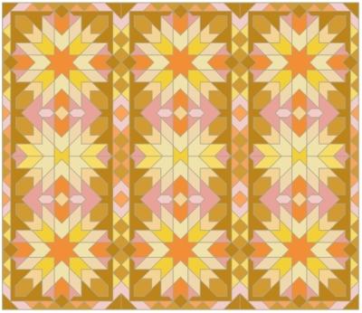 Morocco Grid Pink Orange Yellow