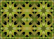 Morocco One Black Gold Green