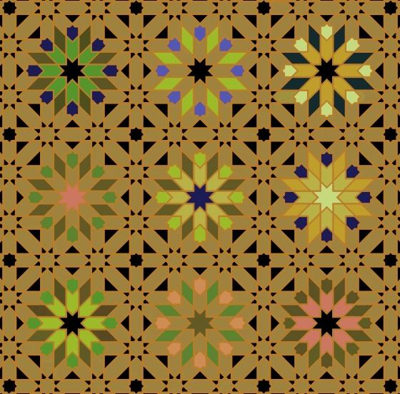 Morocco 3 Bright Gold Greens