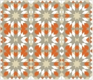 Morrocco Grid Gray Orange