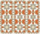 Morrocco Grid Gray Orange