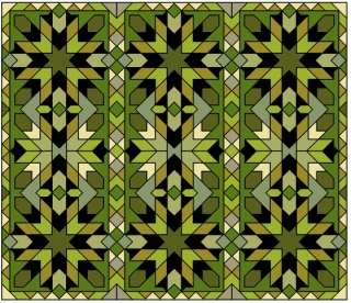 A geometric pattern based on Moroccan tile patterns.