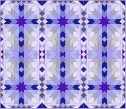 Morrocco Grid Lavender Blue