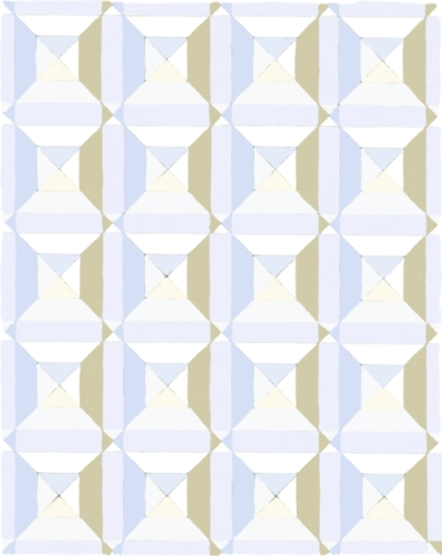 Squares and Diagonal Blue Beige White