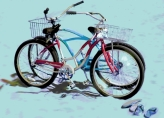 Two bikes, two pairs of flip flops, How Romantic!