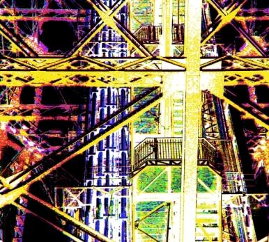 Eiffel Tower Girders Hot Yellow