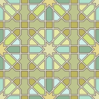 Old Moroccan stone paving pattern.