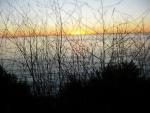 View towards Catalina Island at sunset on the Palos Verdes Peninsula.